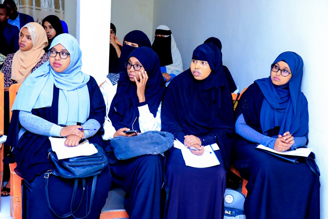 A section of first year students undertaking Masters degrees in various fileds of specialization at Amoud University School of Postgraduate Studies and Research (AUSPGSR), attending a student orientation event on examinations, held on Saturday, January 25th, 2020 at Amoud University School of Postgraduate Studies and Research (AUSPGSR), Borama Campus