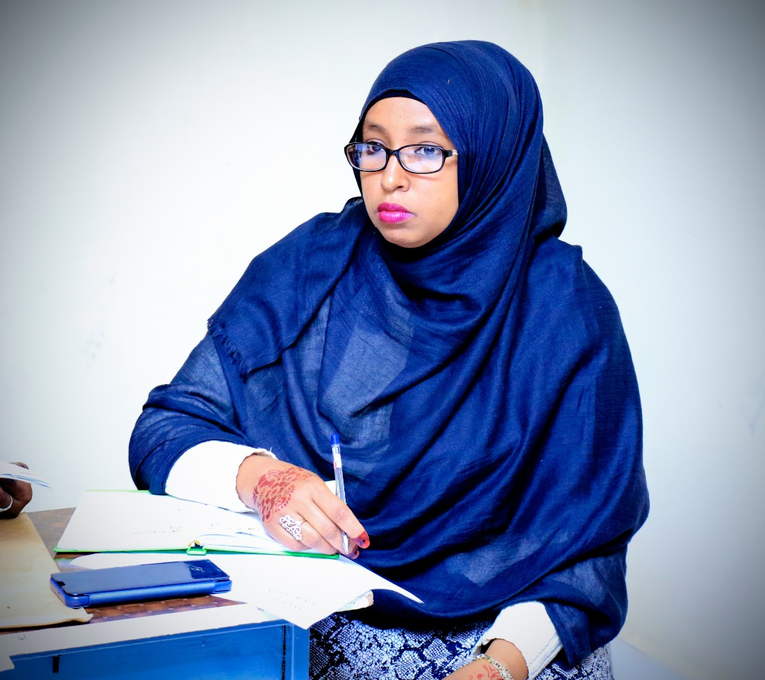 Saida Abdirahman Omar, Associate Dean, Borama Campus, Amoud University School of Postgraduate Studies and Research (AUSPGSR), during the Research Proposal Viva Voce for second year Masters Degree Students held at AUSPGSR, Borama Campus, Tuesday, January 28th, 2020.